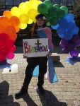 Our Bi Laureate at Rally Against HJR-6 Terre Haute, Indiana October 11, 2013